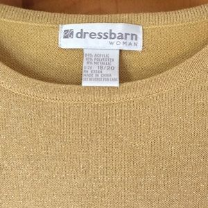 0f5e19e2c0 Dress Barn Sweaters - Dress Barn Sparkly Gold Short Sleeve Sweater